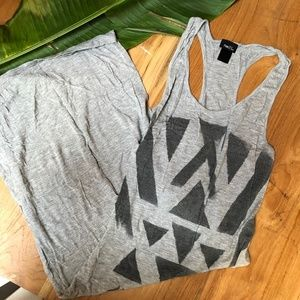 Rue21 Racerback Tank Dress Geometric Block Print